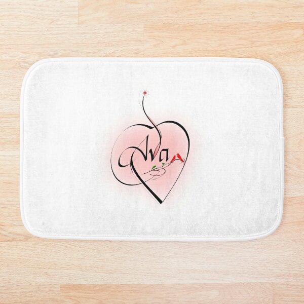 Ava - Calligraphy Bath Mat