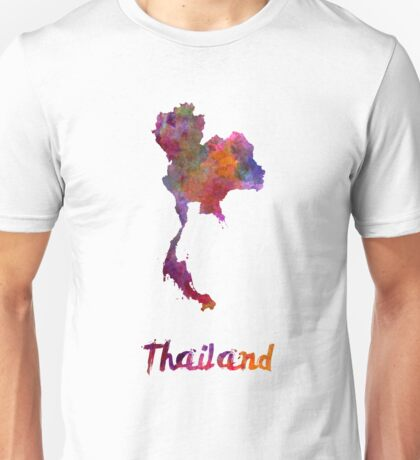 Thailand in watercolor Unisex T-Shirt