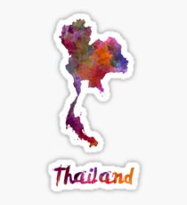Thailand in watercolor Sticker