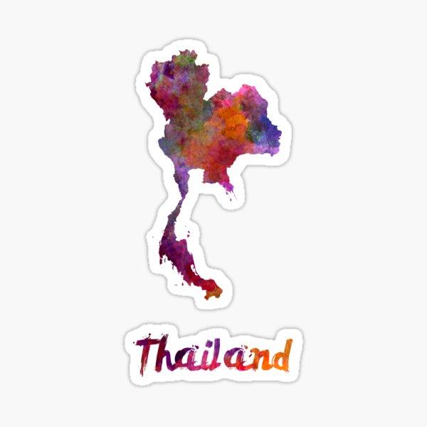 Thailand in watercolor Sticker