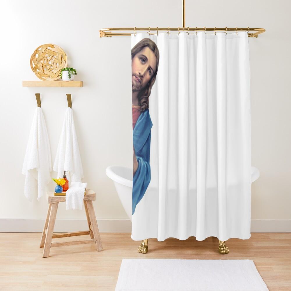 Jesus is watching you - meme Shower Curtain