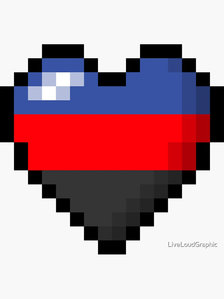 Polyamorous Pixel Heart by LiveLoudGraphic