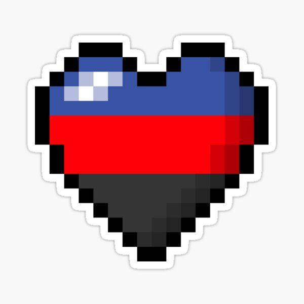 Polyamorous Pixel Heart Sticker