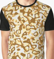 Multi Layer Abstract Pattern Coffee Graphic T-Shirt