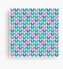 Tulip Knit (Blue Pink Green) Canvas Print