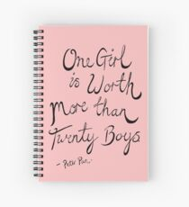 Peter Pan- One Girl Spiral Notebook