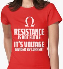 Funny Electrician - Physics T Shirt Womens Fitted T-Shirt