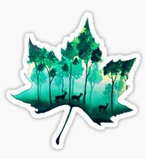 Forest Leaf Sticker