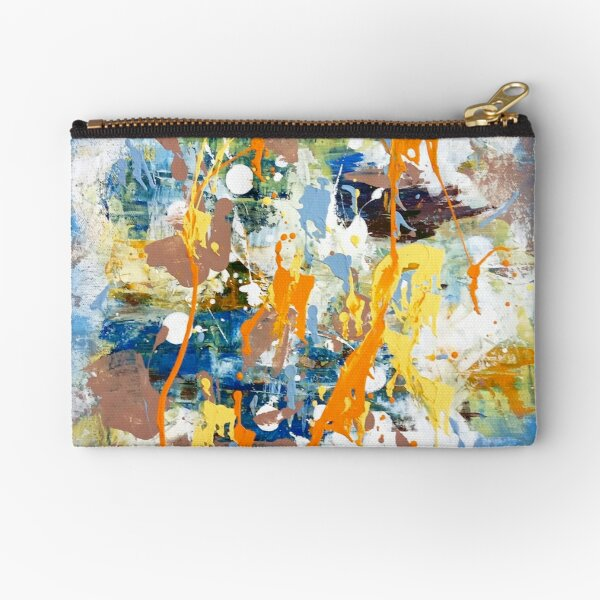 Modern Abstract Acrylic Painting Modern Interior 2 Zipper Pouch