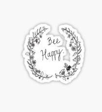 Bee Happy Sticker