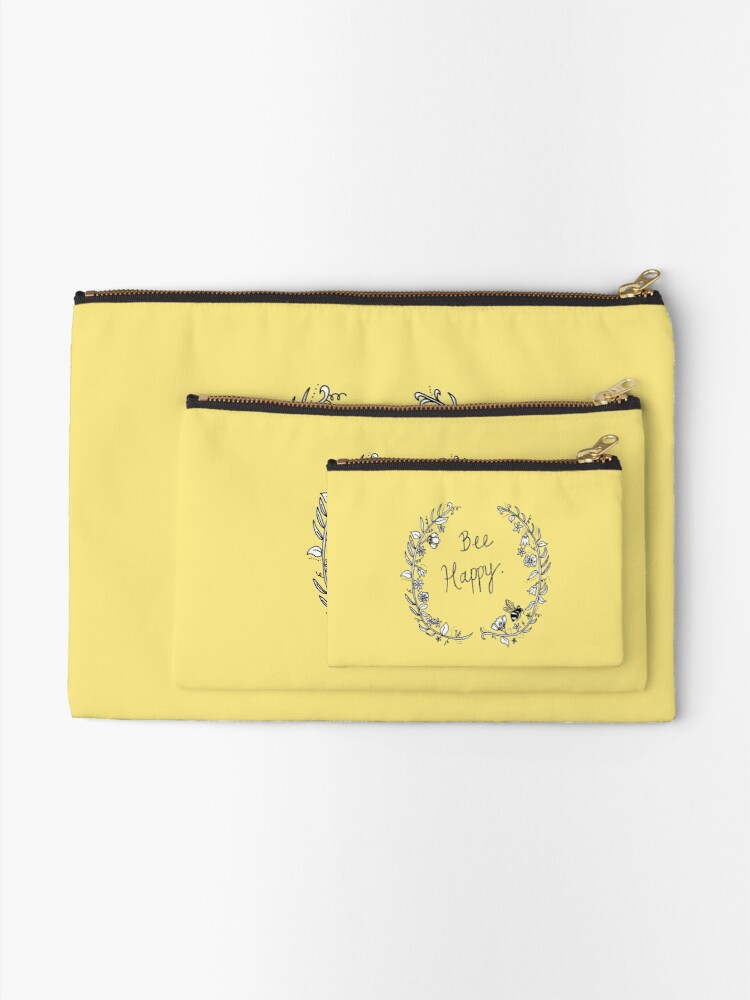 Alternate view of Bee Happy Zipper Pouch