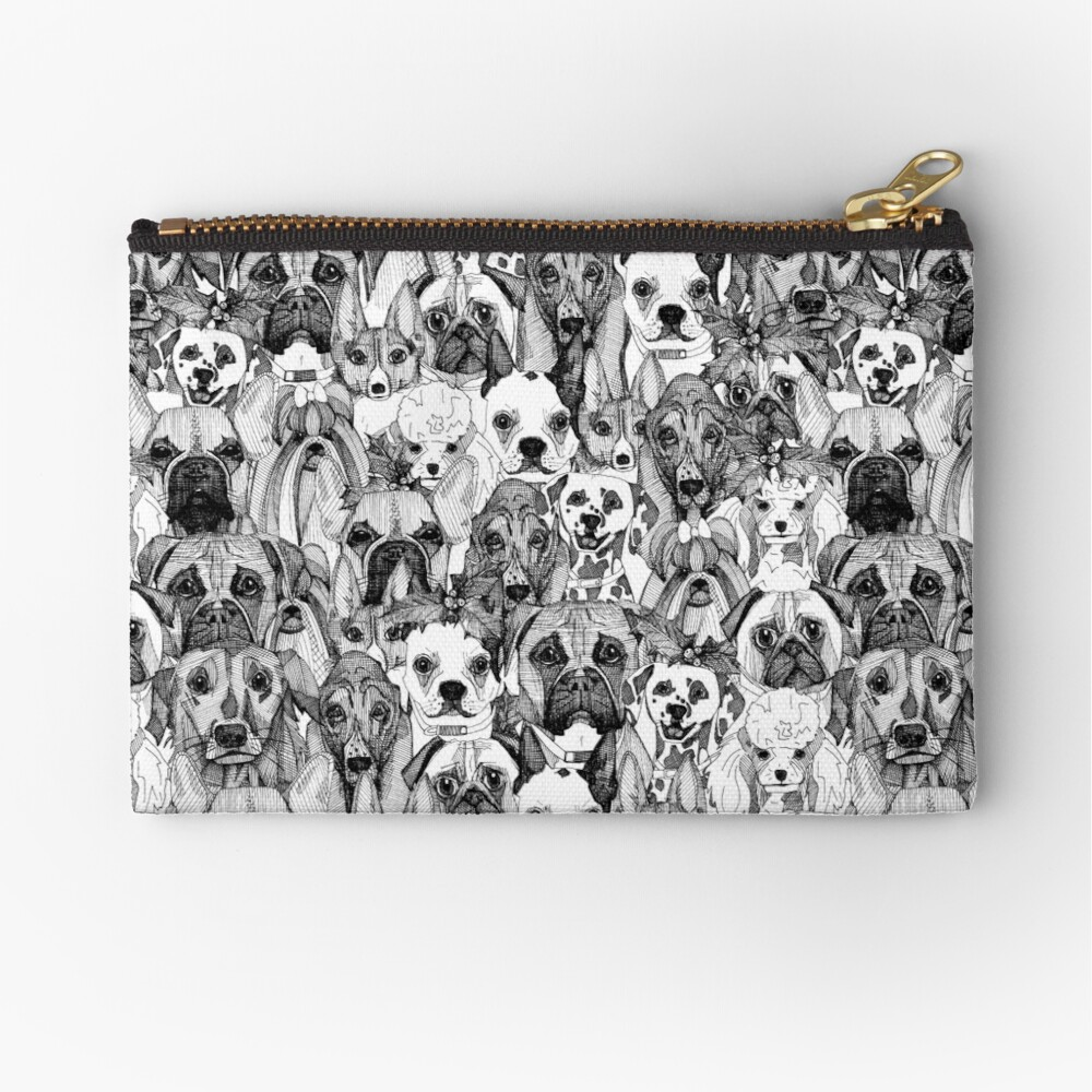 christmas dogs Zipper Pouch