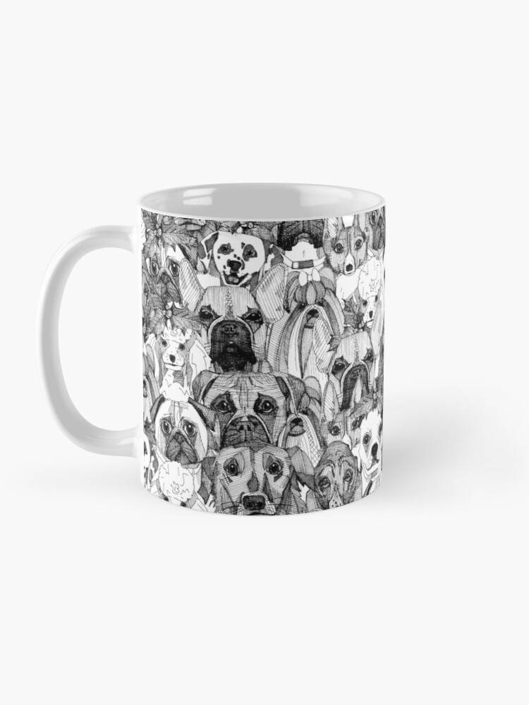 Alternate view of christmas dogs Mug