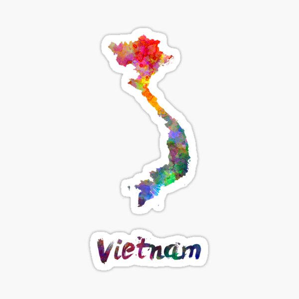 Vietnam in watercolor Sticker