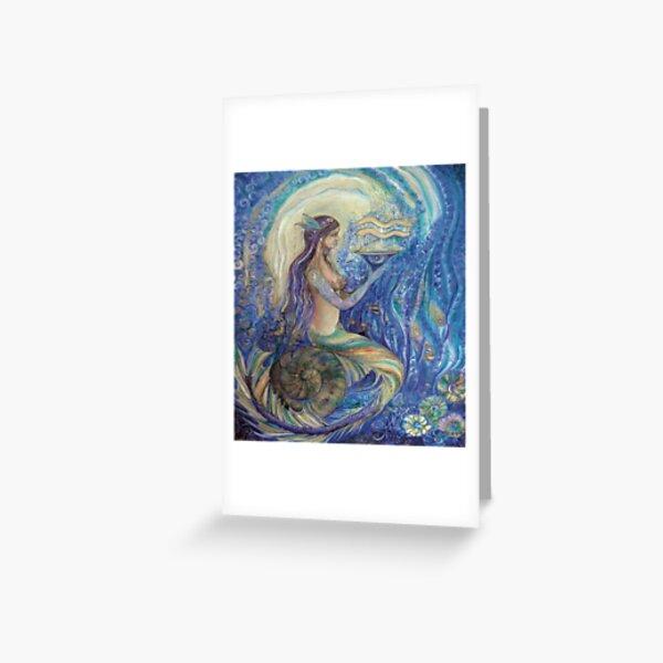 mermaid aquarius Greeting Card
