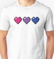 Bisexual Pixel Hearts T-Shirt