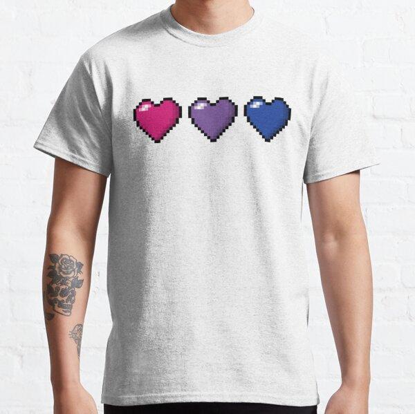 Bisexual Pixel Hearts Classic T-Shirt