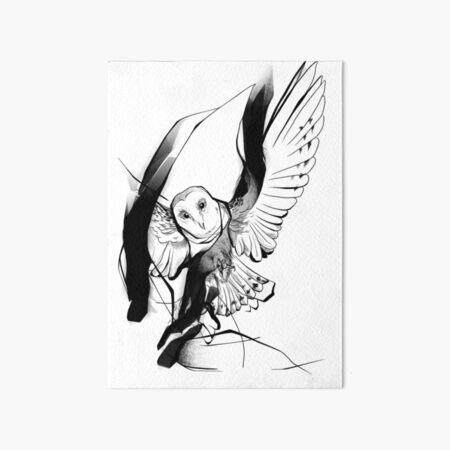 Barn Owl Art Board Print