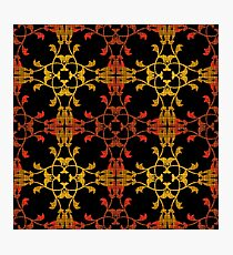 Seamless pattern. East ornament with contrast details background. Template, elegant backdrop with oriental ornaments Photographic Print