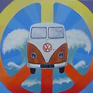 Groovy VW on Peace symbol by Andy  Housham