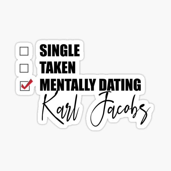 Mentally Dating Karl Jacobs Frog Sticker