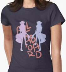 ALL ABORD THE DISCO TRAIN Women's Fitted T-Shirt