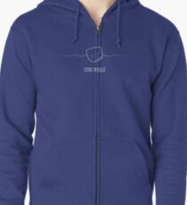 Cube Whale (outline) Zipped Hoodie
