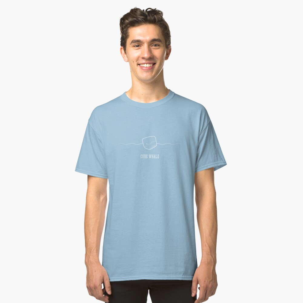 Cube Whale (outline) Classic T-Shirt