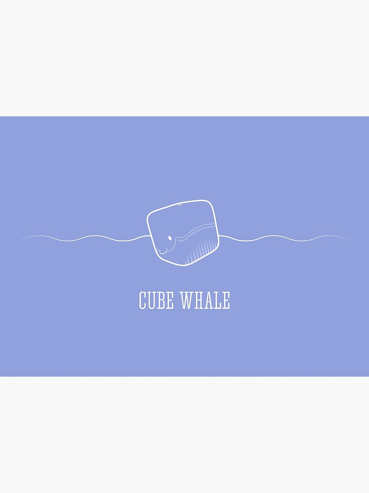 Cube Whale (outline) by Cheeseness