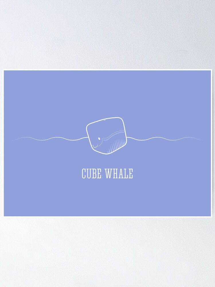 Alternate view of Cube Whale (outline) Poster