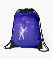 Snowglobe Steampunk Kitty Drawstring Bag
