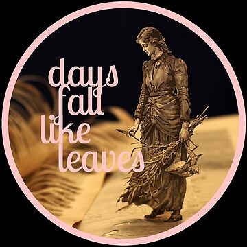 Days Fall like Leaves book sculpture logo by daysfall