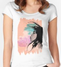 Psychedelic Blow Japanese Girl Dream Women's Fitted Scoop T-Shirt