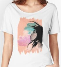 Psychedelic Blow Japanese Girl Dream Women's Relaxed Fit T-Shirt