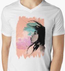 Psychedelic Blow Japanese Girl Dream Men's V-Neck T-Shirt