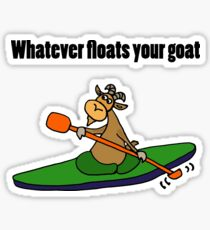 Cool Funny Kayaking Goat  Sticker
