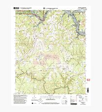 USGS TOPO Map Alabama AL Sunlight 305137 2000 24000 Photographic Print