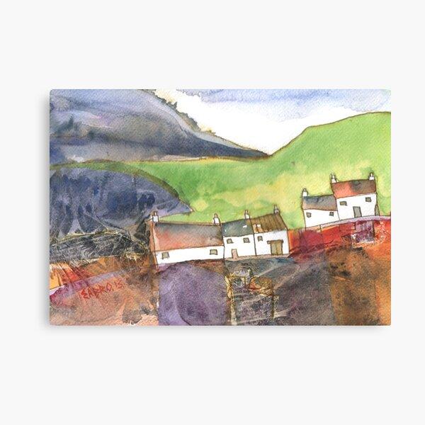 White Cottages 4, Scotland - 2013 Canvas Print