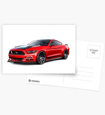 Ford Mustang GT 2015 Postcards