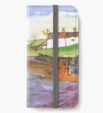 White Cottages 3, Scotland - 2013 iPhone Wallet/Case/Skin
