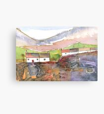 White Cottages 1, Scotland - 2013 Metal Print