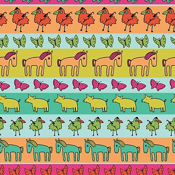 Strolling Pigs and Ponies - Peach Melba - fun pattern by Cecca Designs by Cecca-Designs