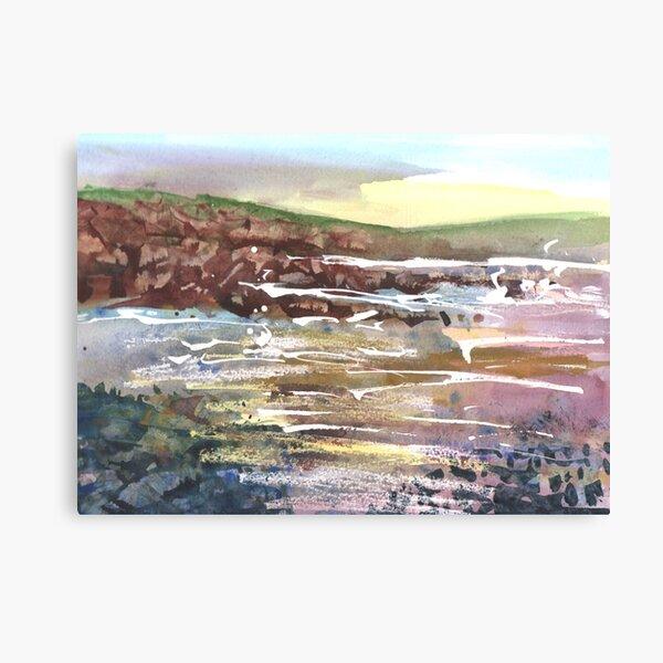 Rocks, Cummingston 3, Moray, Scotland - 2011 Canvas Print