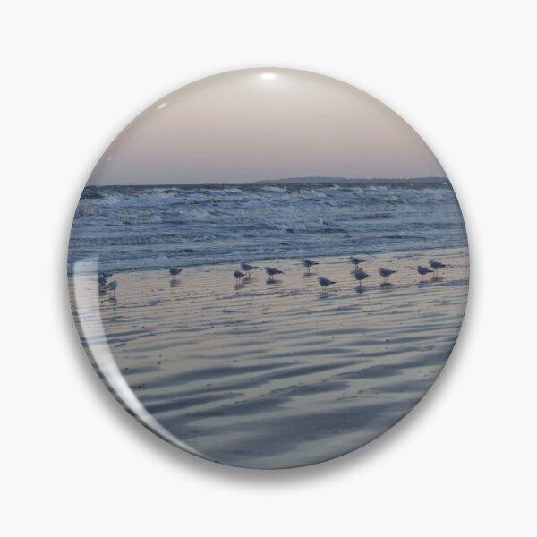 Winter Birds Coastal Sunset Pin