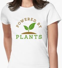 Powered by plants Women's Fitted T-Shirt