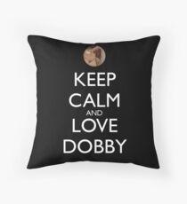 Keep calm and love dobby! Throw Pillow