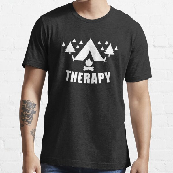 Camping Therapy Outdoor Mountains Hiking Gift Essential T-Shirt