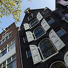 Amsterdam Spring - Arched Windows and Shutters - Left by Georgia Mizuleva