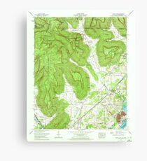 USGS TOPO Map Alabama AL Doran Cove 303698 1967 24000 Canvas Print