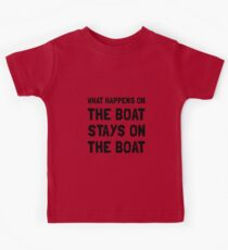 Happens On The Boat Kids Tee